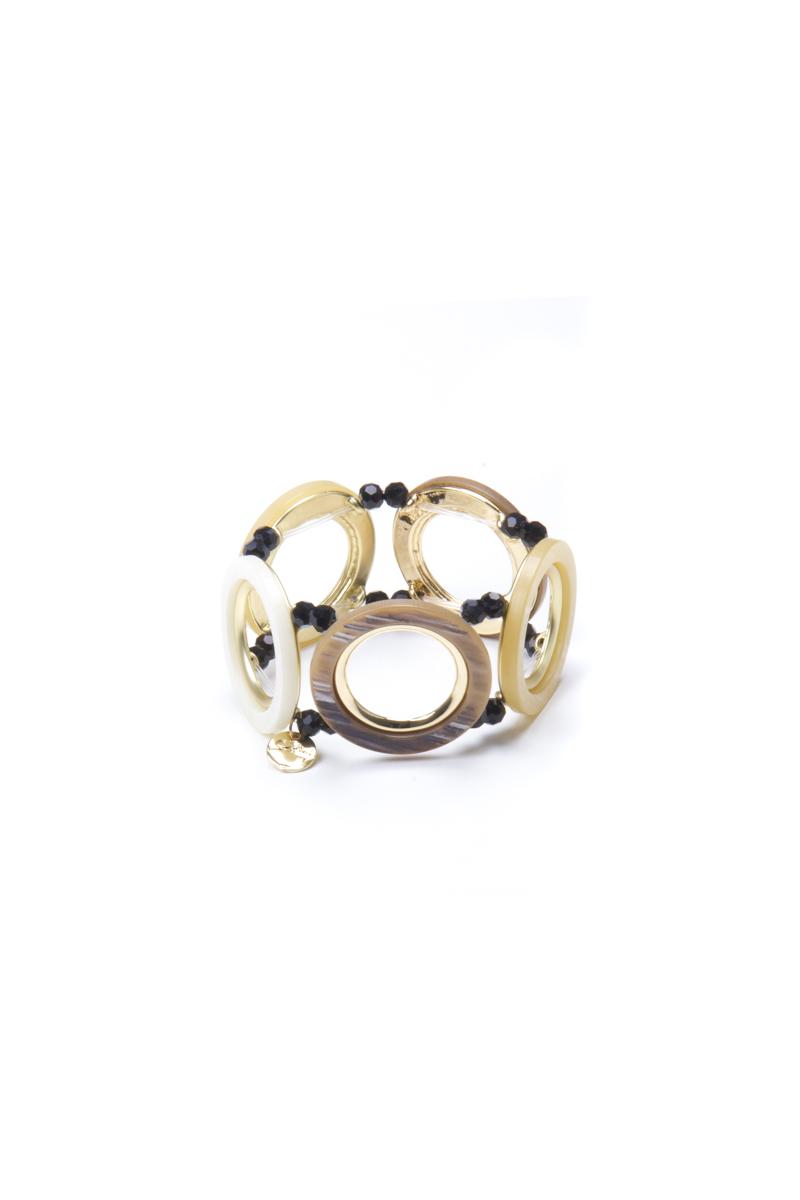 Braccialetto con grandi anelli Safari