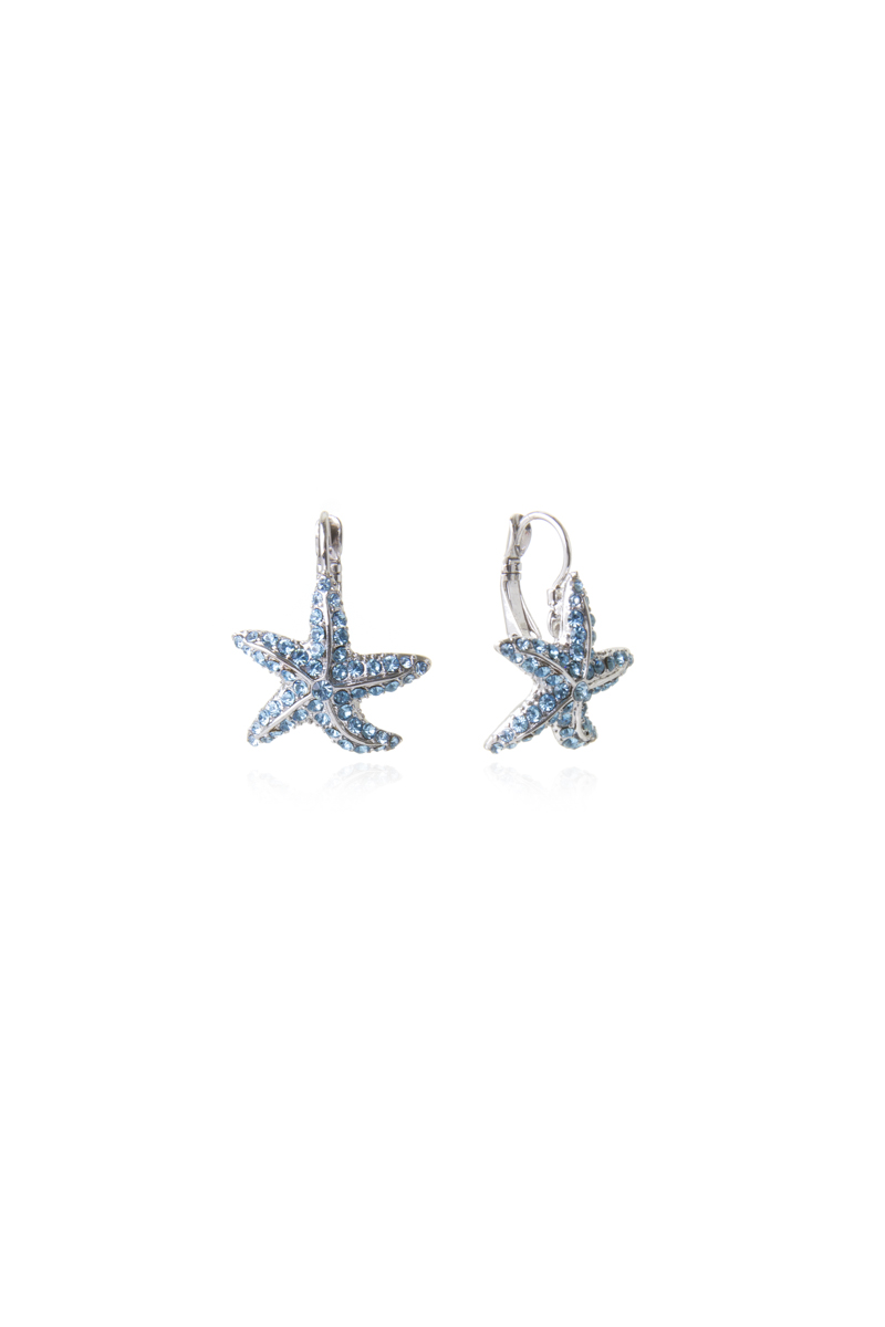 Orecchini stella di mare con brillanti Ocean