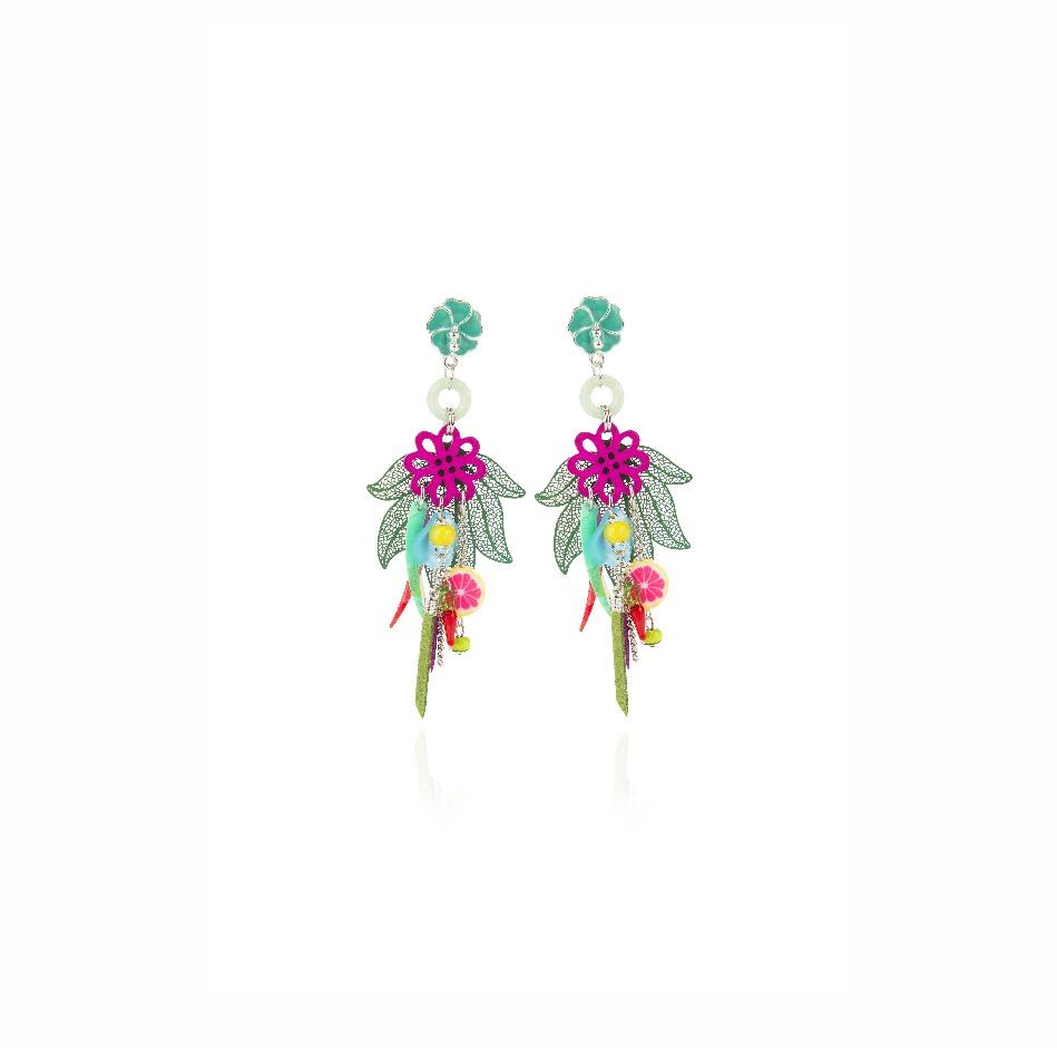 Orecchini fiore di ibisco Frida