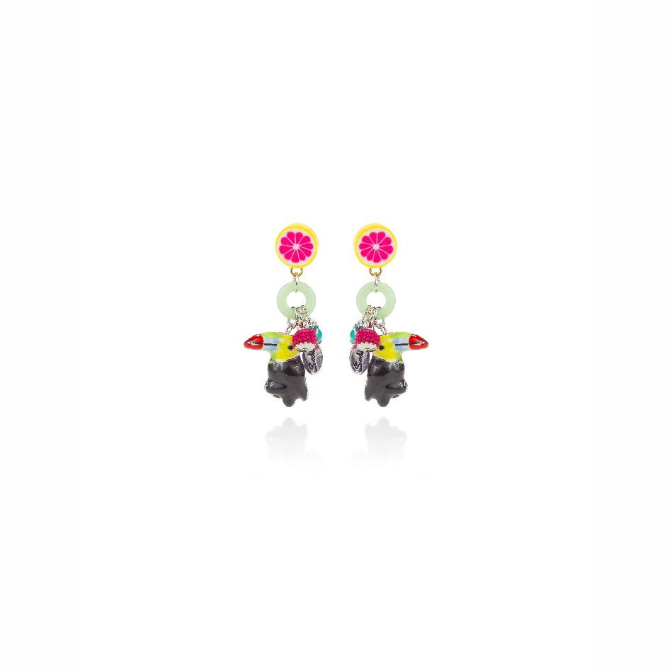 Piccoli orecchini con tucano Frida