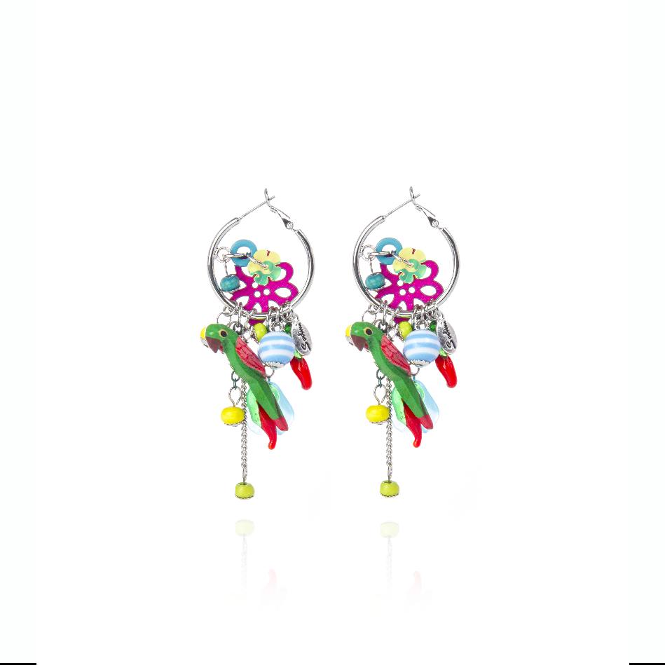 Orecchini creole multi charms Frida