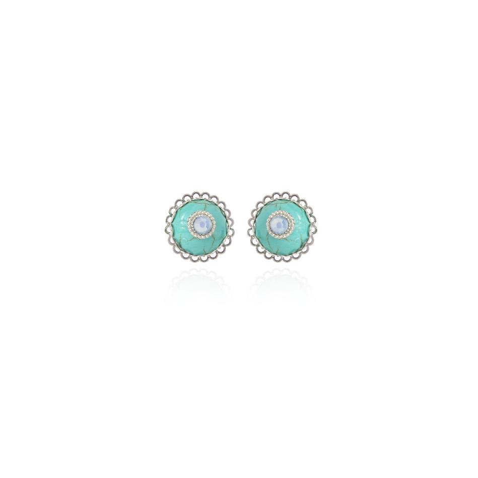 Piccoli orecchini a bottone Lucca